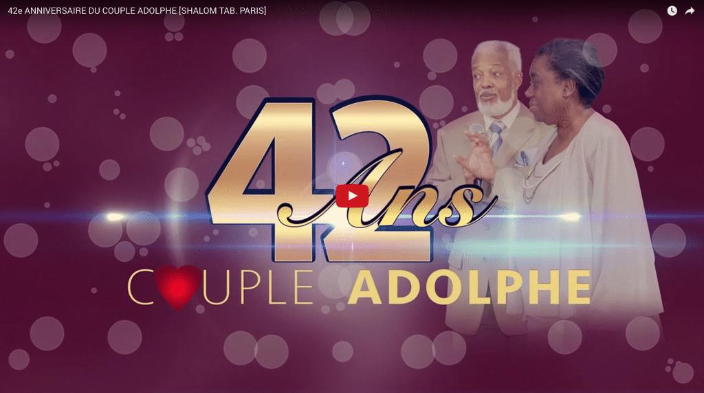 42e anniversaire du couple Adolphe