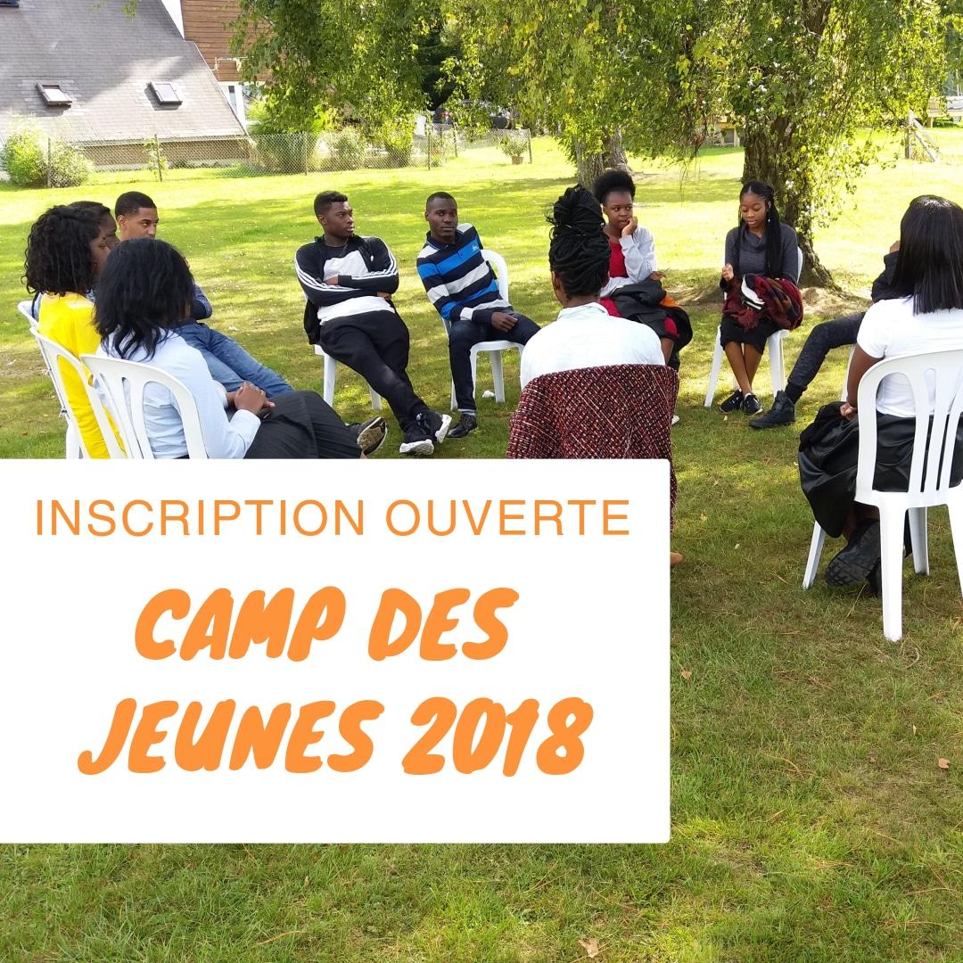 Inscription au camp des jeunes 2018